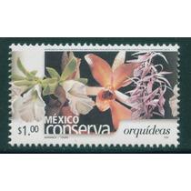 Mexico $1 Orquideas Dentado 14 S. Conserva 2005 Nueva Mp Msi