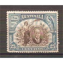Guatemala 15 De Marzo 1917 Libertad Y Cabreras Quetzal Mnh