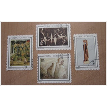 Set 4 Estampillas Sello Postal - Arte Artistas Cubanos -1965