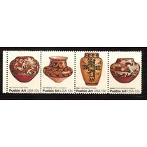 1977 Estados Unidos Arte Indígena Tira 4 Sellos Nuevo