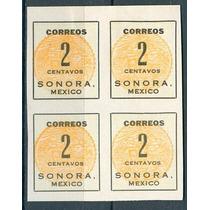 Sc 395 Año 1914 B4 Sonora Mexico Sin Punto