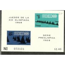 Olimpiadas Mexico 68 Hojita Ordinaria $2.40 1968