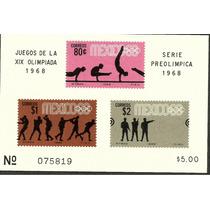Olimpiadas Mexico 68 Hojita Ordinaria $5.00 1968