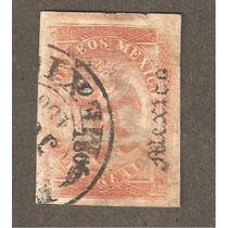 Imperio Mexicano Aguila D Maximiliano 1866 Usada 8reales