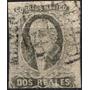 1476 Clasico Negro-gris Dto México 2 Reales Usado 1861