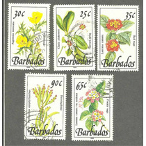 Estampillas De Flores De Barbados