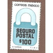 Exporta Seguro Postal Candado $100 5ta Serie Nueva 31mm