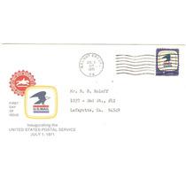 1971 Estados Unidos Sobre Primer Día Emisión Usa Aéreo