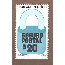 Exporta Seguro Postal Candado $20 5ta Serie Nueva 33mm