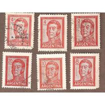 Argentina Estampillas De San Martín.