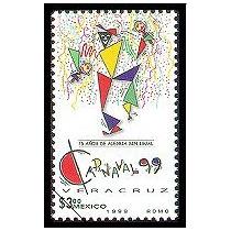Timbre 75 Aniversario Carnaval De Veracruz ( Mexico 1999 )
