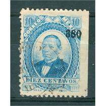 Sc 126 Juarez 10 Cent Papel Grueso Año 1880 Dist 3 Veracruz