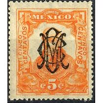 3083 Revolución Naranja Hidalgo 1910 Villa 5c Mint N H 1915