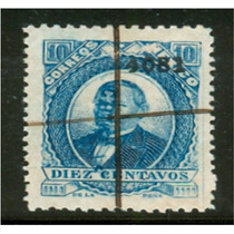 Sc 126 Juarez 10 Cent Papel Grueso Año 1881 Dist 40 Chiapas