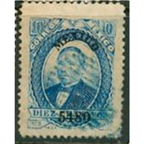 Sc 126 Juarez 10 Cent Papel Grueso Año 1880 Dist 54 Mexico