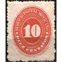 0919 México Numeral Scott #187 Rojo F 2° E 10c Mint L H 1887