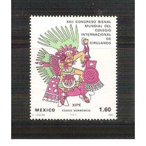 1980 Congreso Mundial Cirujanos Codice Borbonico Sello Mint