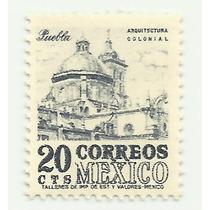 Estampilla 20c Puebla Serie Arquitectura Wk 300