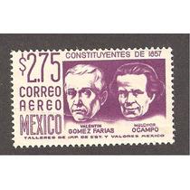 México $2.75 Constituyentes Del 57 Ocampo Y Gomez F 1956