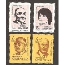 Argentina Medicos Y Artistasestampillas Nuevas 1969 Y1971