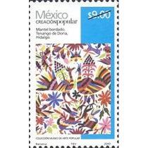 2010 Mantel Bordado Creación Popular Artesania Nuevo
