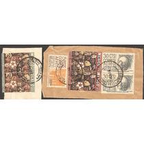 Mexico Fragmento Mundial 1970 Y Arqueologia $5 Y 30 Cts Aere