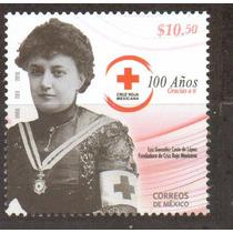 Timbre Centenario Cruz Roja Mexicana ( Mexico 2010 )
