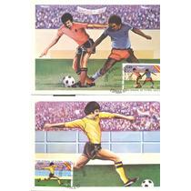 Tpm1- 7 Tarjetas Máximas De Cuba Tema Fútbol España 82-