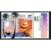 Mexico 1999 Acapulco Aniv. Timbres Con Etiqueta Nva Msi