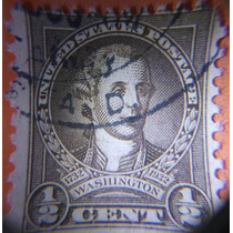 Estampilla Usa 1/2 Cent Washington, 1932 (usado) #704
