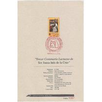 Hoja Carnet Primer Día Sor Juana Inés De La Cruz 1995