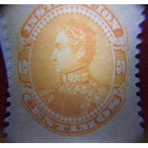 Estampilla Venezuela 5 Céntimos Simón Bolívar, 1893