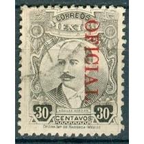 Sc O161 Año 1921 Oficial Aquiles Serdan 30c Hombres Ilustre