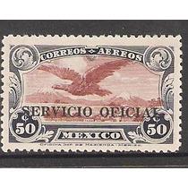 Estampilla Aerea Servicio Oficial Año 1930 Mlh