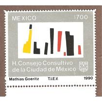 Estampilla Consejo Consultivo Cd. Mexico 1990