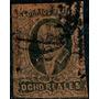 2134 Clásico México Gótico Negro-café 8 Reales Usado 1867