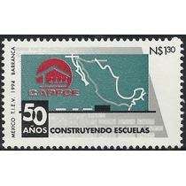 1994 Capfce 50 Años Construyendo Escuelas Sc. 1861 Sello Mnh