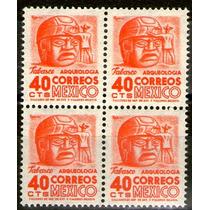 México, Block 4, Arqueología Tabasco 40c, Ma279 1950
