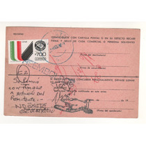 No.33-papeleria Postal Usada Con Sello 700 México Exporta-