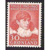 Groenlandia 1960 Rasmussen Explorador Polar Antropólogo Mnh