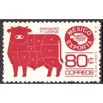 1649 Exporta 2° E Toro Viñeta Rayada 80c Mint N H 1980