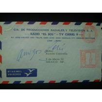 Sobre Postal Radio El Sol De Peru 1962