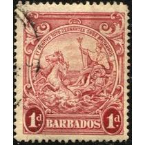 2812 Barbados Carroza Caballos 1 P Usado 1916-18