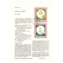 Hoja Carnet Primer Día Flora, Maiz Y Papaya 1982