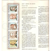 Hoja Carnet Primer Dia Serie Arte Y Ciencia De México 1982