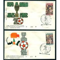Mexico 1970 Sobres Con Timbres Mundial De Futbol Mexico 70