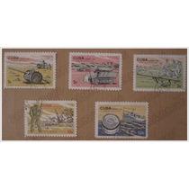Set 5 Timbres Postales - Museo De La Revolucion - Cuba 1965
