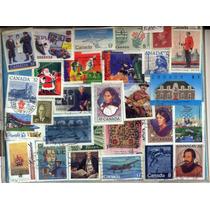 Lm23-100 Sellos Usados Para Colección De Canadá-
