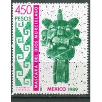 Sc 1632 Año 1989 Mascara Del Dios Murcielago Cultura Zapotec