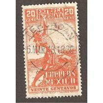 Cancelación Tahuacán Puebla E. Entrega Inmediata 1948